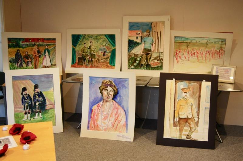 Holocaust Exhibition Paintings