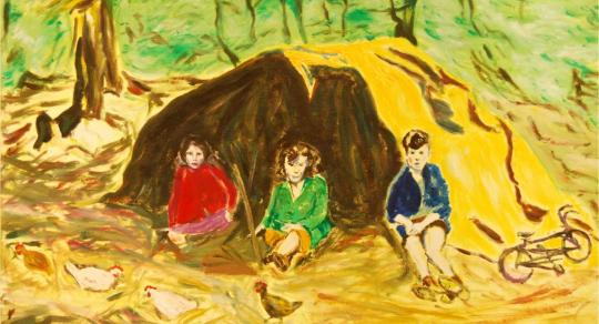 Painting Geddie, Gouris and Ganis (Boys, Girls and Hens